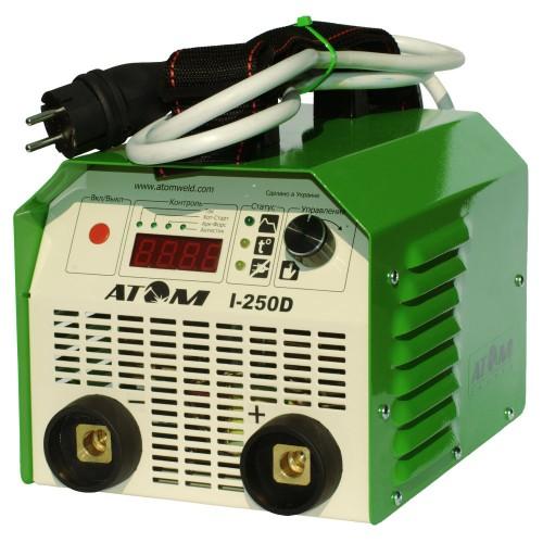 Сварочный инвертор Атом I-250D (с комплектом кабелей КГ-16)